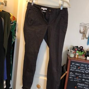 Zip ankle gray chinos